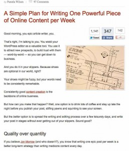 Copyblogger clean layout screenshot