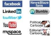 NewsBlaze Social Media Logos