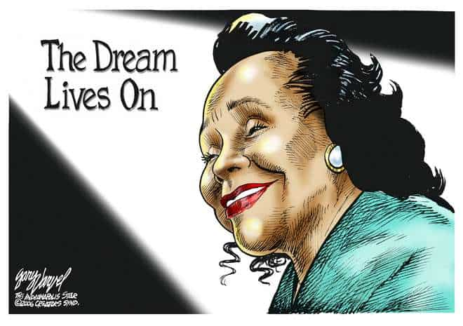Coretta Scott King cartoon