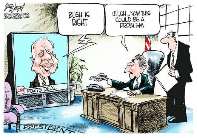 Editorial Cartoons by Gary Varvel - gv0223c - 23 February 2006