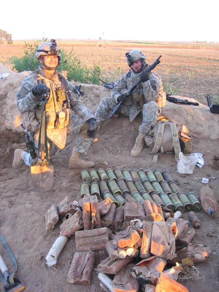 Alpha Troop 1 167 Cavalry with weapons cache