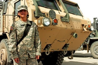 Pfc. Jana Rutherford, a driver