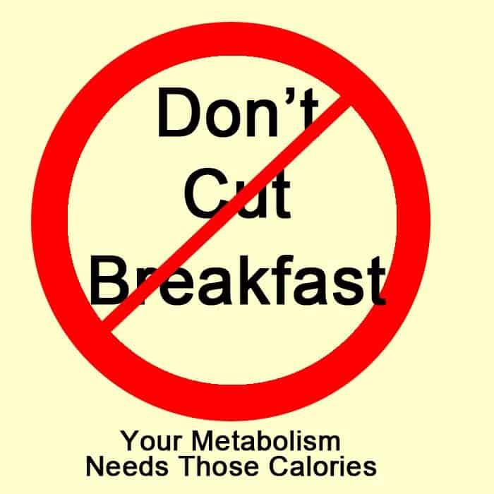 breakfast calorie recommendation
