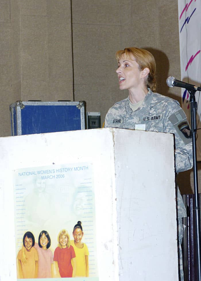 Colonel Pamela Stahl, Staff Judge Advocate