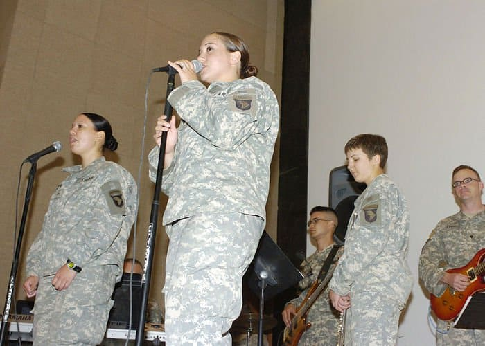Womens History Month program with 101st Airborne Band