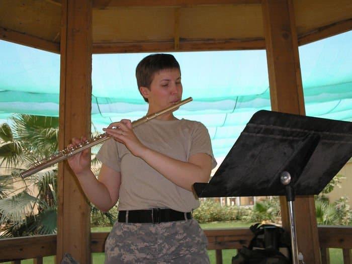 Flutist Sgt. Erica J. Coutsouridis