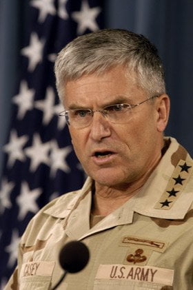 Gen. George W. Casey Jr., Commanding General