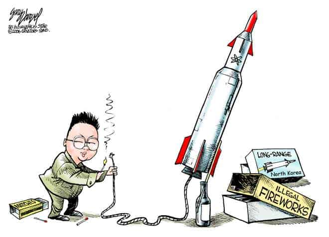 Korean illegal fireworks cartoon