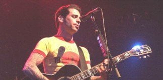 Chris Carrabba, lead singer and songwriter for Dashboard Confessional