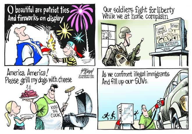 Editorial Cartoons by Gary Varvel - gv0704cd - 04 July 2006