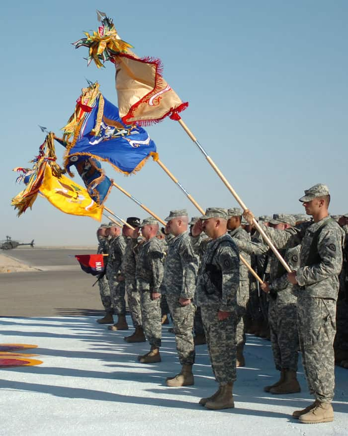 Colors brought to attention at 9/11 remembrance and re enlistment