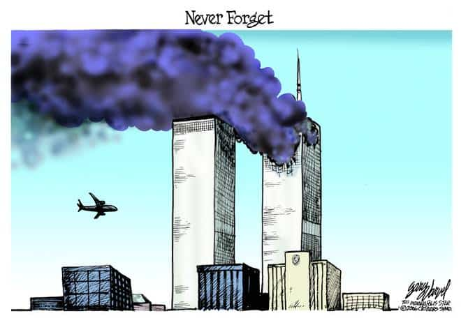 Editorial Cartoons by Gary Varvel - gv0911bcd - 11 September 2006