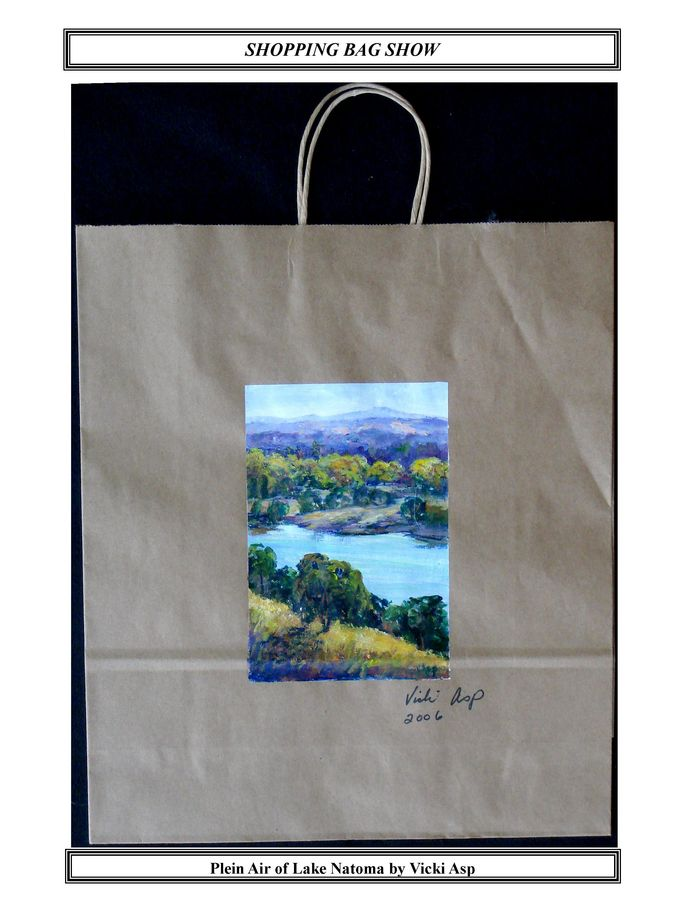 Plein Air of Lake Natoma by Vicki Asp