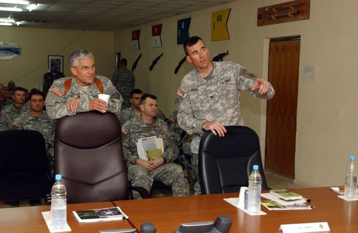 Gen. George Casey, MNFI commanding generalintroduced to Task Force Lightning commanders