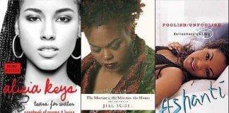 Alicia Keys, Jill Scott, and Ashanti books