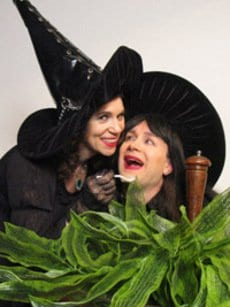 skit for Village Halloween Ball, with Elizabeth Barkan and Charles Battersby.