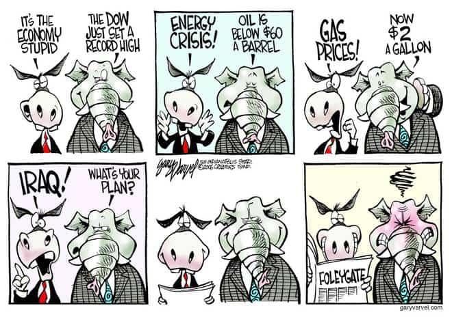 Editorial Cartoons by Gary Varvel - gv1006cd - 06 October 2006