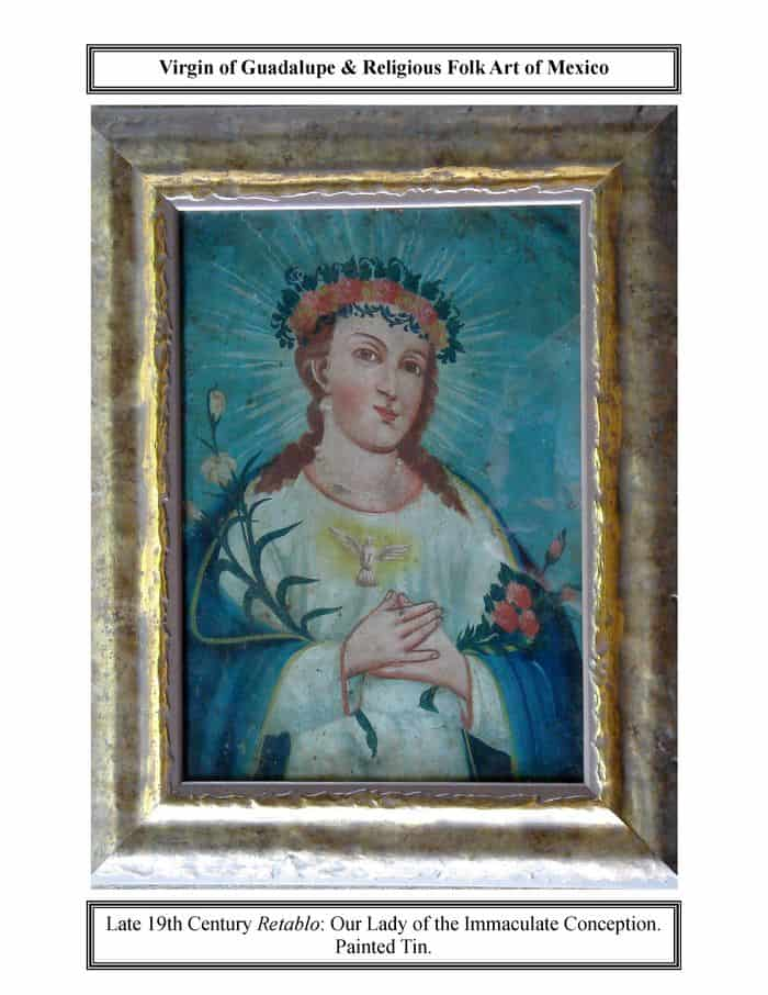 virgin of guadalupe in blue