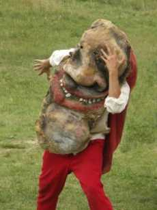 Kasper, a character of Bread and Puppet Theater.