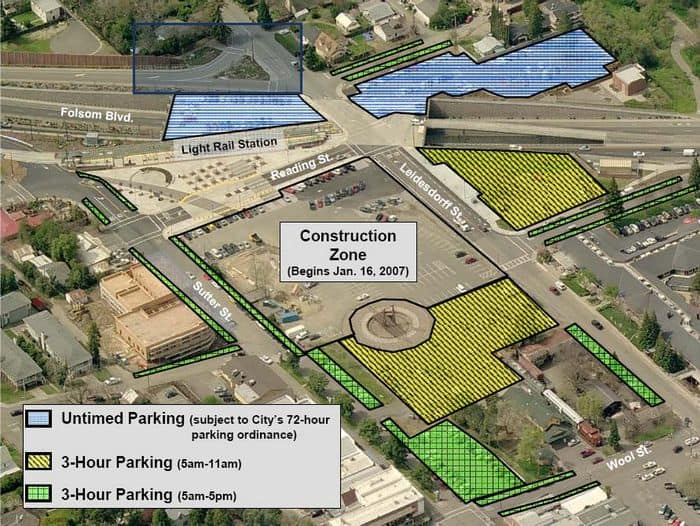 Folsom Parking restriction map