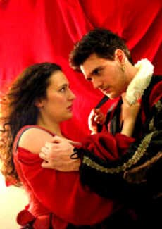 Rachel Alt as Kate and Charlie Coniglio as Petruchio