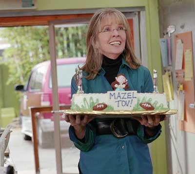 Diane Keaton with Mazel Tov dessert