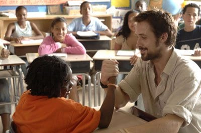 Ryan Gosling arm wrestling