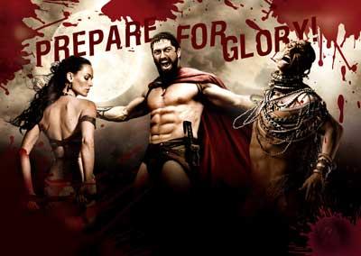 300 film poster prepare for glory