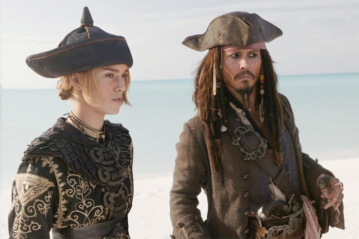 Elizabeth Swann and Johnny Depp