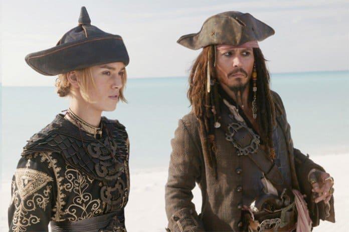 Elizabeth Swann and Johnny Depp