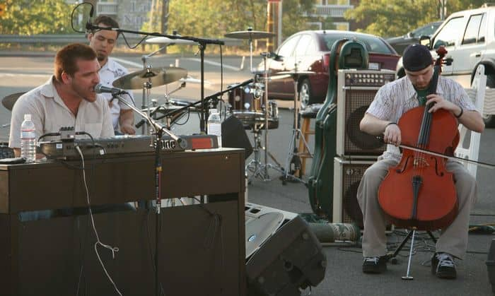 The guitar man at Folsom Second Thursday Night Market.