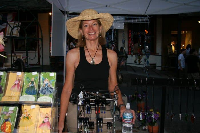 Beautiful smile for the Thursday Night Market in Folsom, CA.