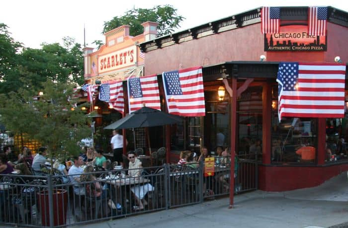 Eating out at Scarlet's, Near Chicago Fire at the corner of Sutter and Riley in Folsom, CA.