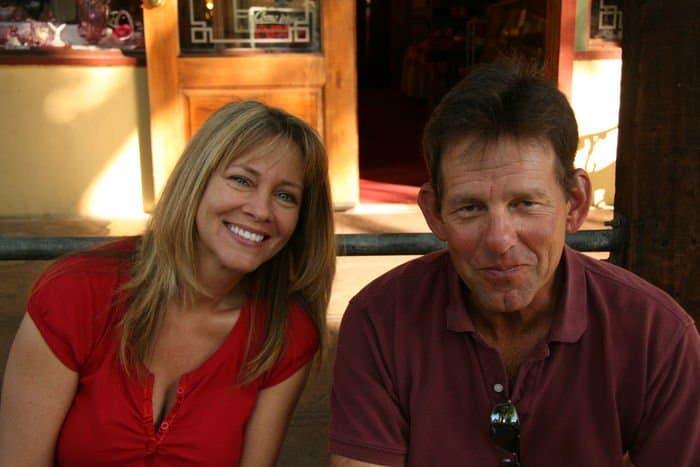 Jim Snow and his mom at Thursday Night Market.
