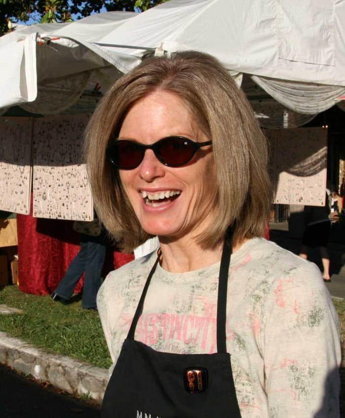 Lori Wille running the Thursday Night Market.