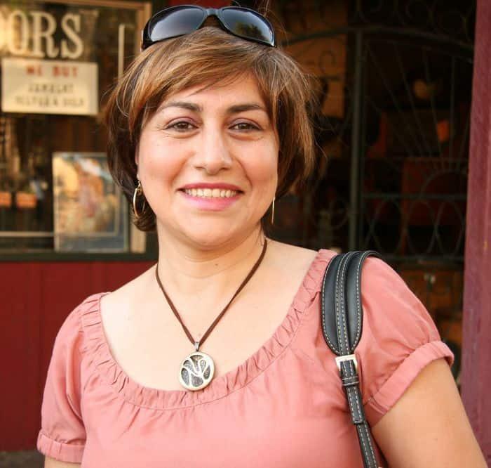 Mom smiles at Thursday Night Market.