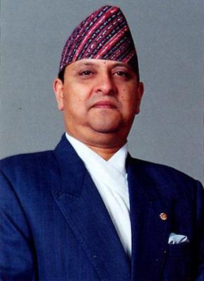 Photo of King Gyanendra.