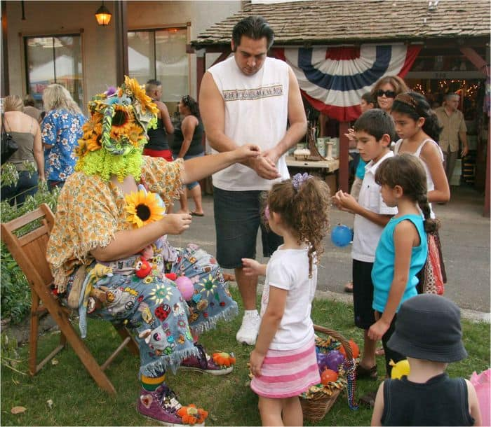 Sunshine the clown and friends.