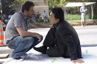Director Brett Ratner with Jackie Chan in Rush Hour 3
