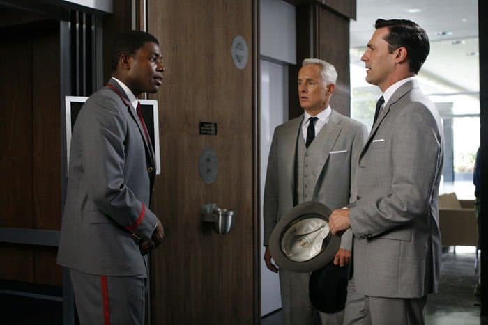 La Monde Byrd, John Slattery, and Jon Hamm star in Episode 7 of MAD MEN