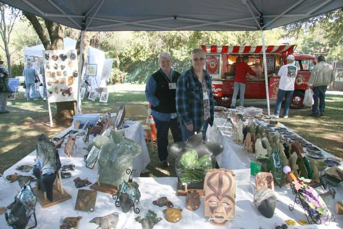 Glass artists show off their work at Folsom Gourd and Arts Festival.