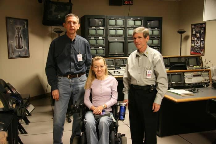 Alan Gray, Jenny Siegle and Bob Calvert and in the Altitude TV studio.