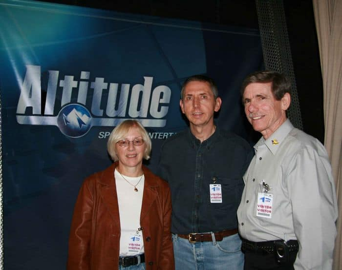 Sally, Alan and Bob with the Altitude Banner.