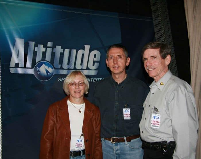 Sally, Alan and Bob with the Altitude Banner.