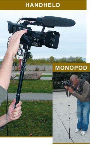 Quik Pod DSLR handheld camera system.