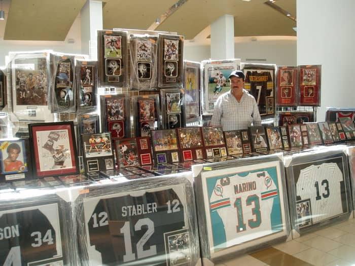 Celebrity Memorabilia at California Sports Card Shows.