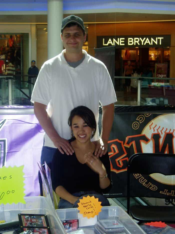 Matt Puska and wife, Annie, Sunrise Mall Sports Card Show Dealers