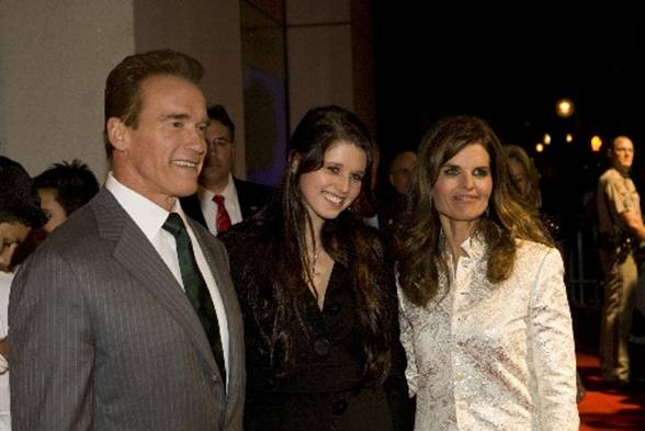 Governor Arnold Schwarzenegger, Katherine Schwarzenegger and Maria Shriver on the California Hall of Fame red carpet.