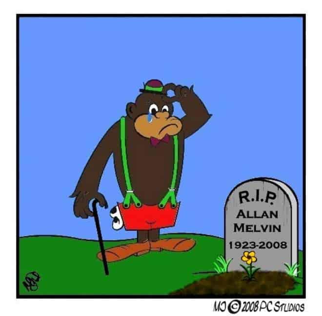 Missing Allan Melvin cartoon.