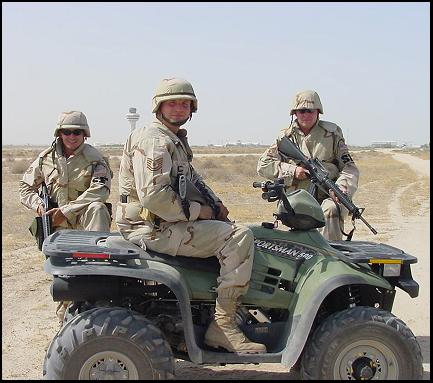 Tech. Sergeants Ivan Palaez, Joe Giambrone and Ryan Hoffman deployed to Kuwait in 2002 in support of Operation Iraqi Freedom.